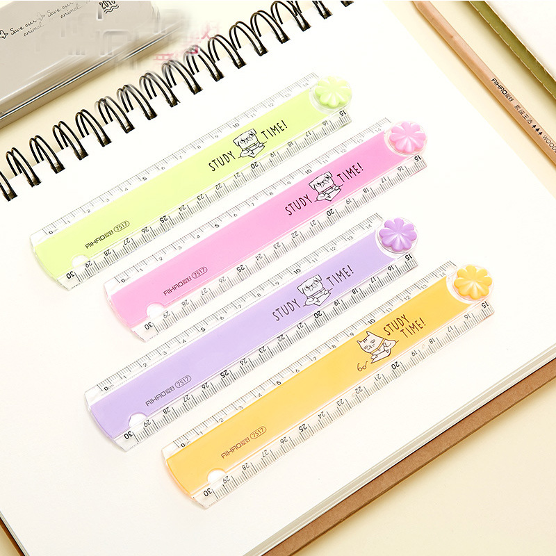 30CM Folding Ruler Kawaii Color Multifunction DIY Drawing Rulers For Kids Students Supplies Office School Stationery