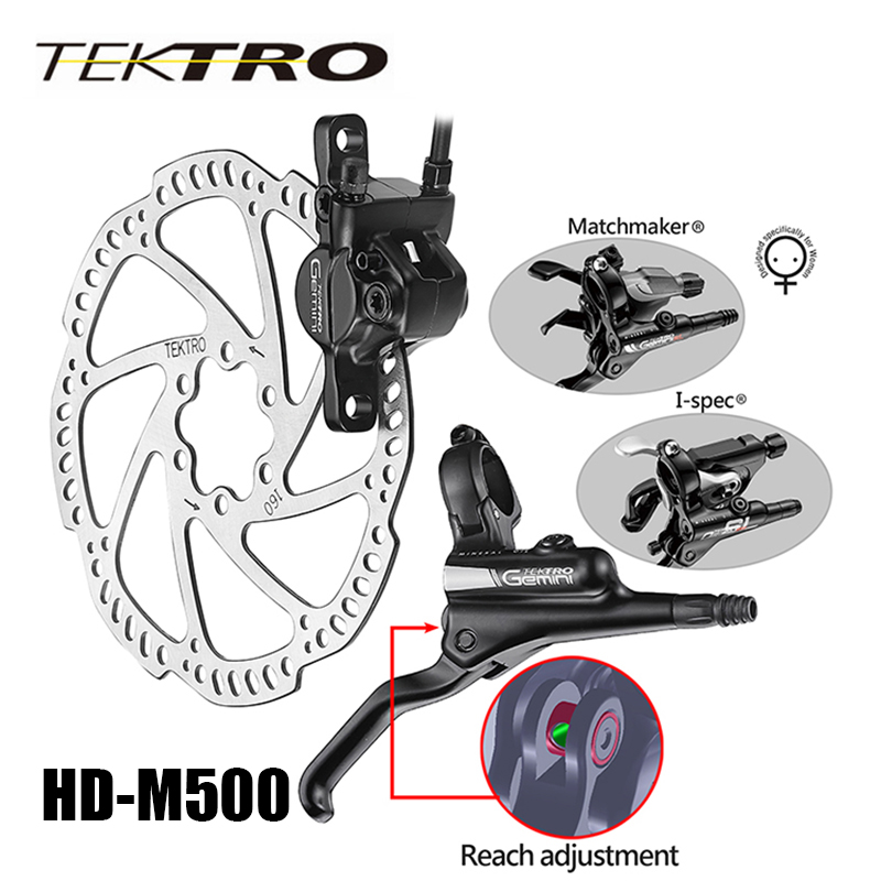 TEKTRO HD M500 Hydraulic Disc Brake Lever Caliper Forged Aluminum Open System Dual Piston Confident Braking 305g/wheel