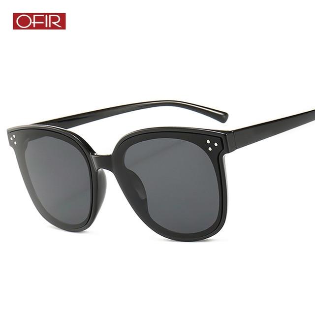 c3c6a6dbf79b7 New Retro Rivet Cat Eye Sunglasses Women Oversized Square Sun Glasses  Female Cateye Eyewear Big Frame Sunglass Shades