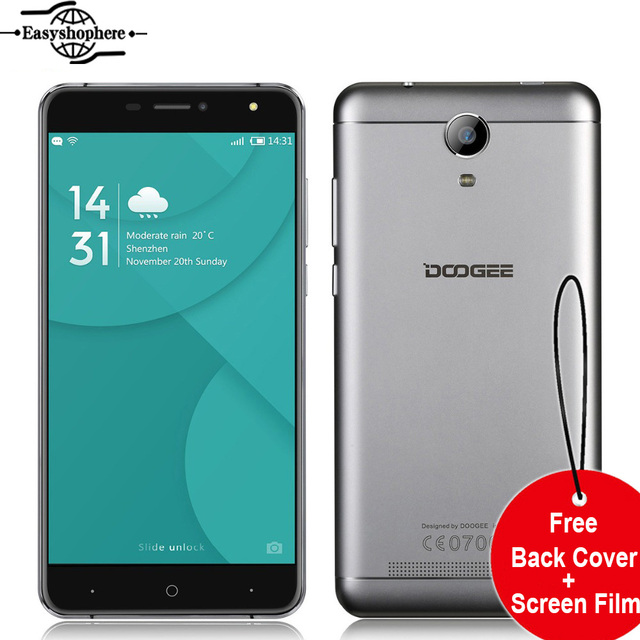 6.0 Inch Doogee X7 Pro 4G Smartphone Android 6.0 MT6737 Quad Core 2GB 16GB Mobile Phone Metal Body 13MP 3700mAh OTG Celuar