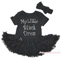 My Little Black Dress Valentine Bodysuit Girls Romantic Rose Baby Dress NB-18M