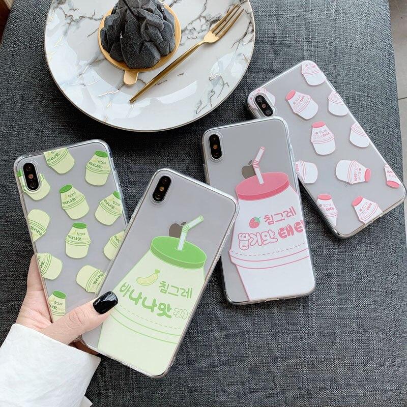 Banana Milk Phone Case For Samsung A7 2018 S8 A50 S9 Note 9 S10 S7 Edge J7 J5 J4 A5 A8 A30 S6 S9 Plus A6 S10e J6 Soft Back Cove