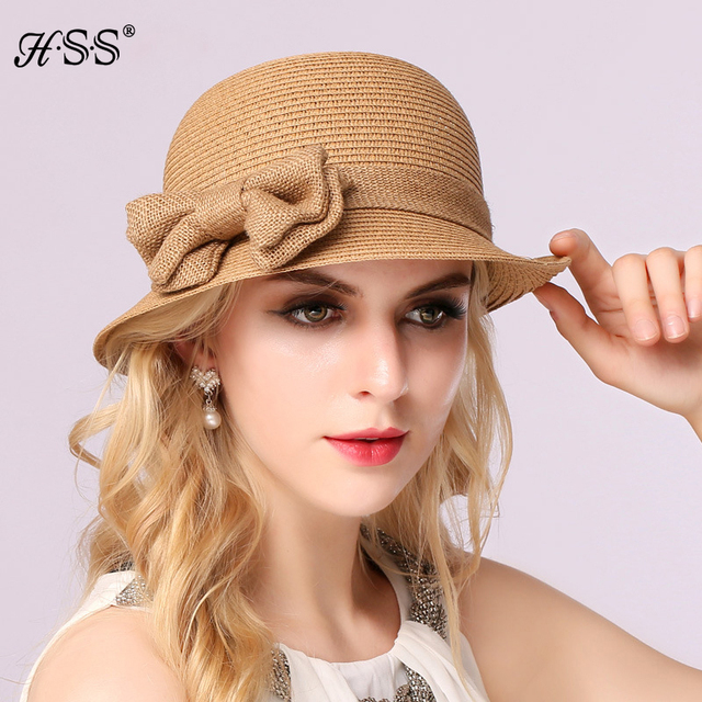 The summer Straw sun hat  Sun visor lady Bow  Formal hat