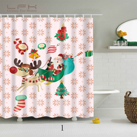 LFH High Quality Shower Curtain New Custom Christmas Gift Modern Shower Curtain Bathroom Waterproof Bath Screens