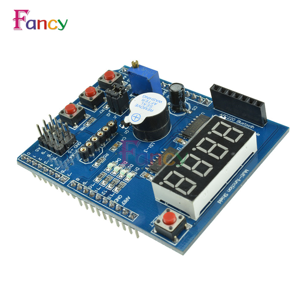 APC220 Bluetooth Voice Recognition Module Multifunctional Expansion Board Shield LED display Kit for Arduino UNO R3 Mega2560 5v 2 channel ir relay shield expansion board module for arduino with infrared remote controller