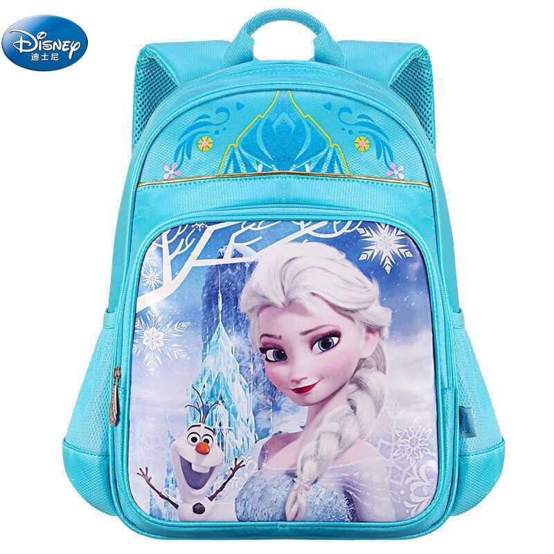Girls Frozen Princess Snow Elsa Anna Plush Backpacks Disney Boys Mickey Minnie School Backpack For Kids School Gift