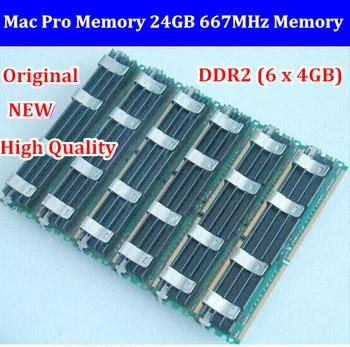 Free Shipping NEW Original Mac Pro Memory 24GB 667MHz DDR2 PC2-5300 FB-DIMM ECC 6x4GB Kit for macpro 1.1,2.1,3.1 update