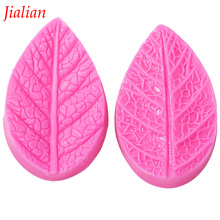 Free Shipping leaves pressed sugar embossed silicone mold chocolate fondant cake decoration baking kitchen tool FT-311