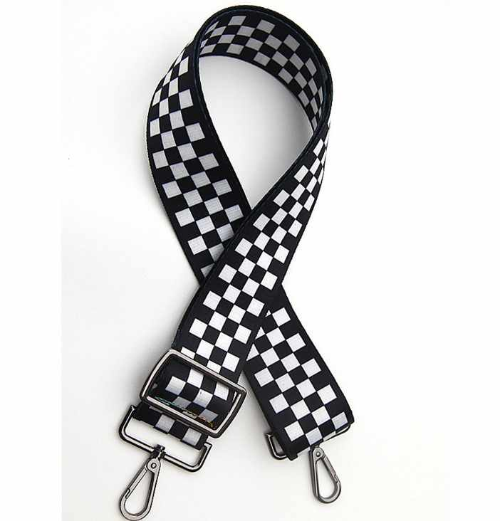 2019 новые сумки ремень плед дизайн Национальный черный пряжка холст ремни для сумок новый модный легко держать Наплечные ремни qn213