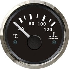 Brand New Water Temp Gauges 52mm Water Temperature Indicators 12v / 24v with Sensor Suitable for Auto Boat