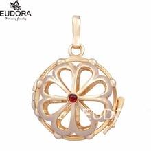 5H026 5 Unids/lote Oro Rosa DIY Jaula Medallón apta para 20mm Vientre Embarazada Bola Colgante de Collar de La Joyería Al Por Mayor
