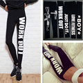 Hip Push Up Leggings Women Low Waist Sexy Pants Letters Printed Bodybuilding Legging Pants Gothic Leggins 2016 Fashion