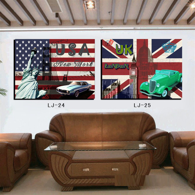 2pcs new modern home decor creative usuk style scene canvas painting art decorative picture