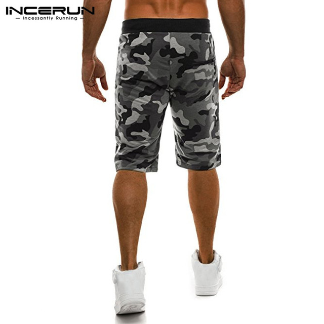 Camouflage Men's Shorts Loose Calf Length Sweatpants  2