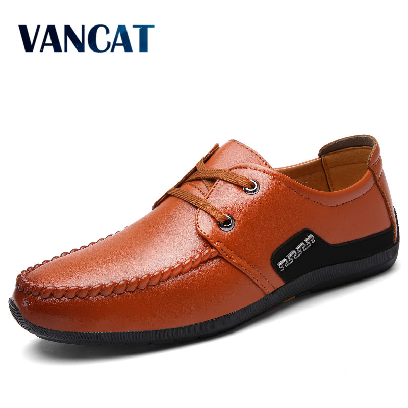 VANCAT 2017 New Men Loafers Luxury Brand Men Shoes Fashion Casual Male Shoes Slip On Men Leather Shoes Designer Leather Flats cbjsho brand men shoes 2017 new genuine leather moccasins comfortable men loafers luxury men s flats men casual shoes