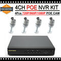 Sistema de Vigilância com 2mp poe À Prova D' Água HD 1080 P Poe ip HD Sistema de Câmera de 1 TB Frete Grátis