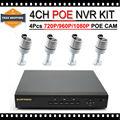 Sistema de Vigilancia con Impermeable 2mp HD 1080 P Poe poe ip Sistema de Cámara HD 1 TB Envío Gratis