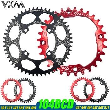 VXM Fiets 104BCD Crank Ovale Ronde 30 T 32 T 34 T 36 T 38 T 40 T 42 T 44 T 46 T 48 T 50 T 52 T Kettingwiel Smalle Brede Mtb Kettingblad