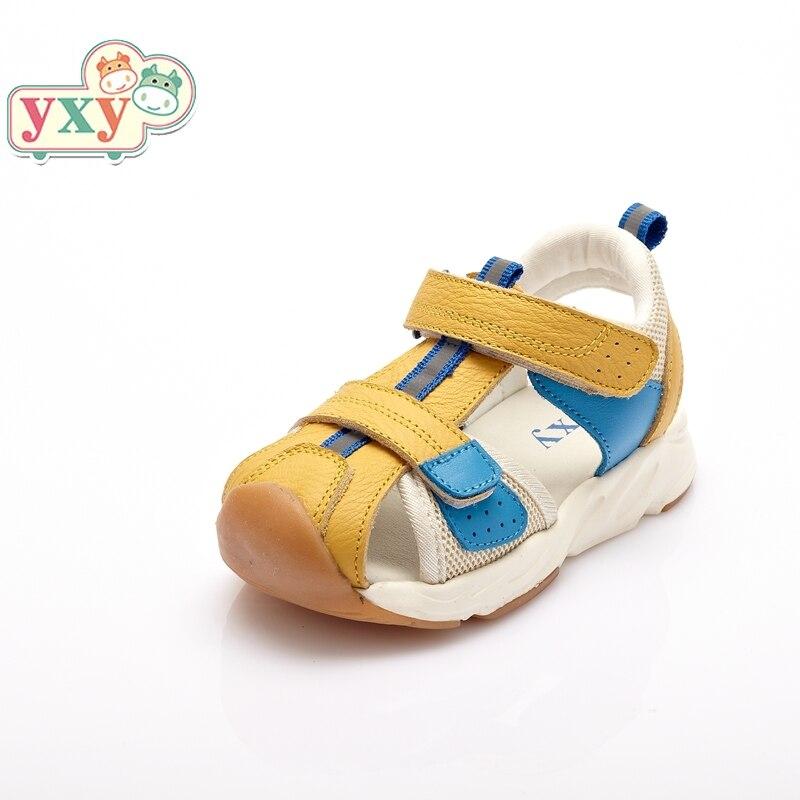 YXY 2019 brand summer Genuine Pig leather baby boys girls prewalkers anti-slip hook&loop dirty proof sandals high quality shoes