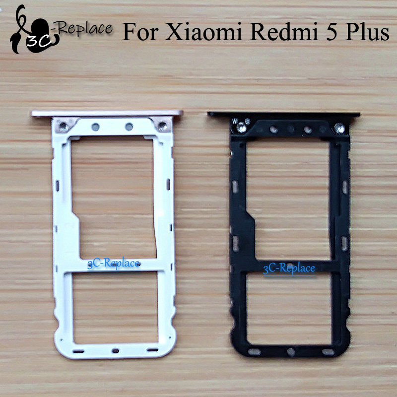 For Xiaomi Redmi 5 Plus Meg7 Sim Tray Micro Sd Card Holder Slot Parts Sim Card Adapter Mobile Phone Housings Frames Aliexpress