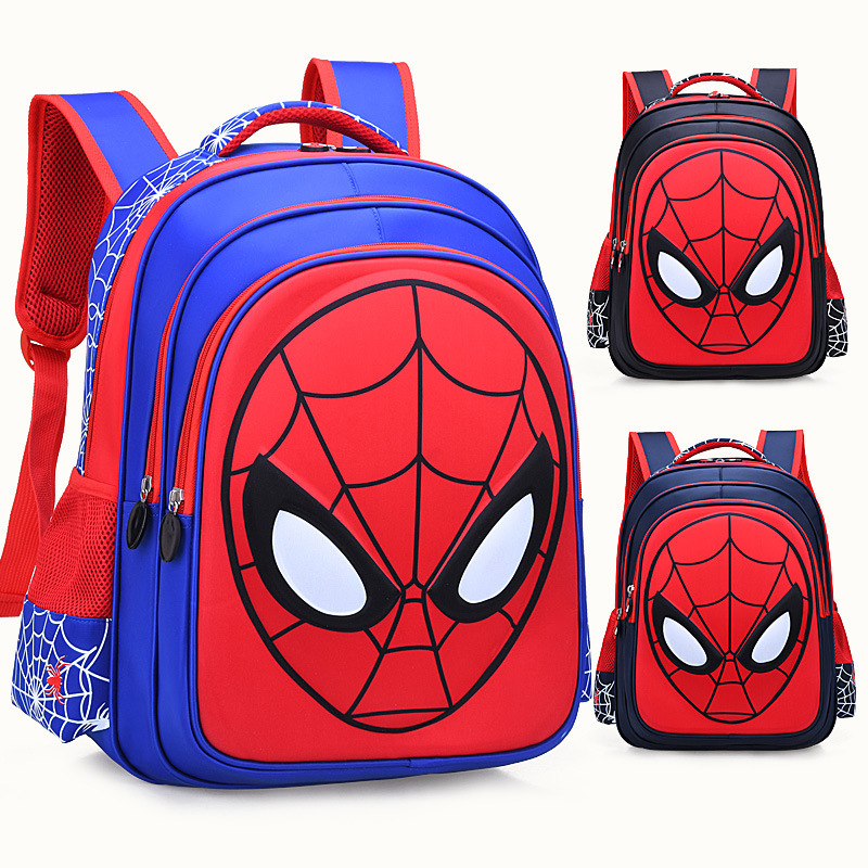 High Quality 3D Spider Man Children School Bags For Boys Primary School Spiderman School Backpack Suitable For 3-6-12 Years Old
