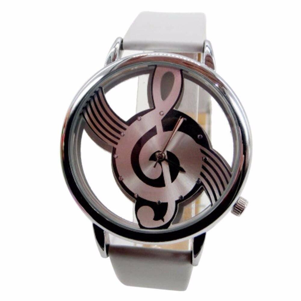 fd2a443b031b Blanco moda casual mens mujer cuero Band cuarzo analógico reloj de pulsera  deportivo