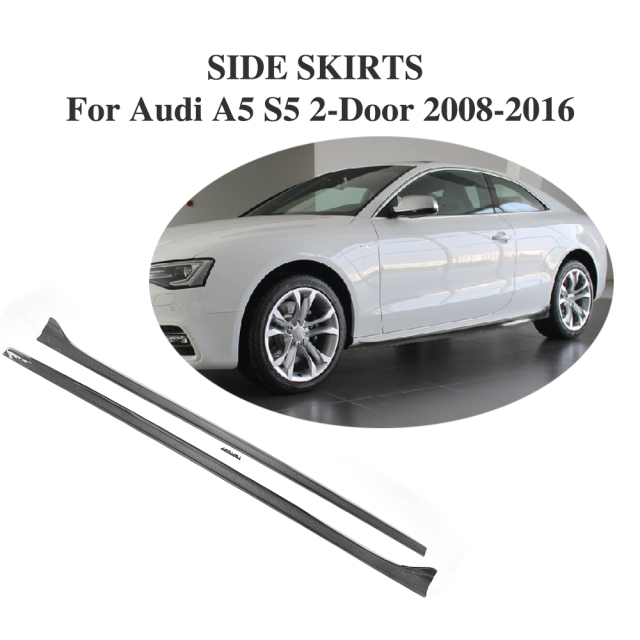 Carbon Fiber Side Skirts Aprons Bumper Molding Trim For Audi A S - 2 door audi