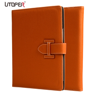 High Quality Luxury Cow Skin Smart Cover Leather Case For Ipad 2 3 4 Cover Special