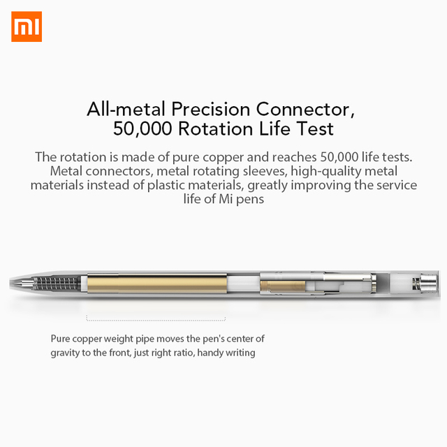 Xiaomi Mijia PEN With 0.5mm Swiss Refill 143mm Rolling Roller Ball Mi Xiomi Sign Signing Ballpoint 3