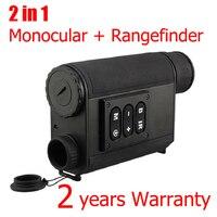 200 м Диапазон ночного видения Охота Монокуляр с 500 м дальномер лазера 6x32 зум ночное видение оптический охотничий продукт