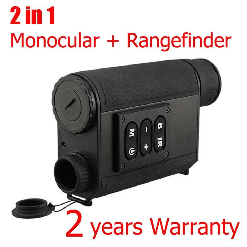 Monoculaire de chasse de Vision nocturne de portée 200 M avec télémètre Laser de portée 500 M 6x32 zoom produit de chasse optique de Vision nocturne