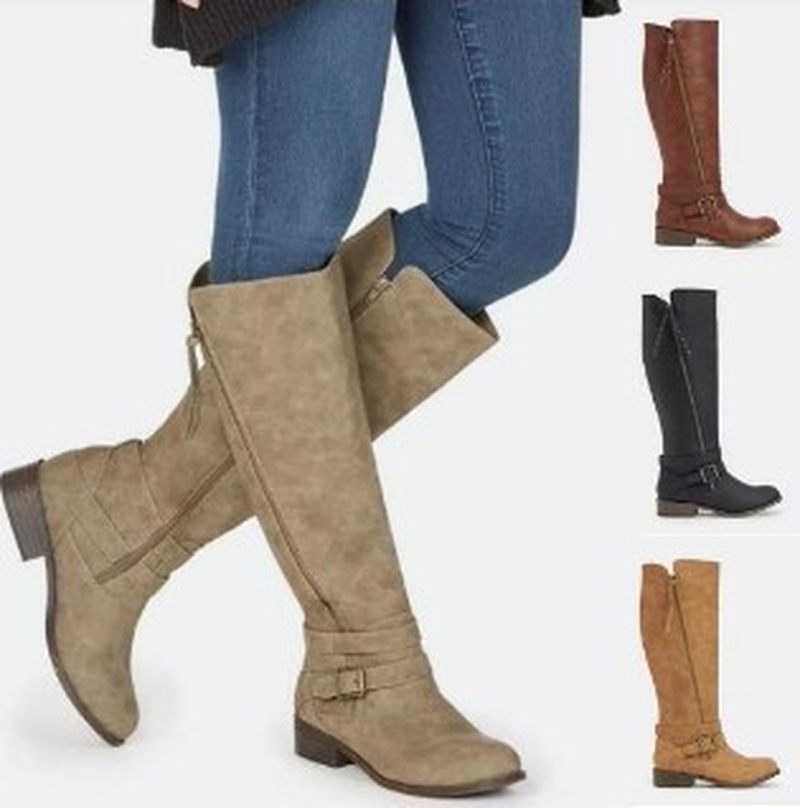 Women Boots Autumn Winter Boots High Boots Fashionable Women Shoes Knee High Booties Soft Flat Comfortable Slip on Rubber Solid women shoes wedges platform knee high boots winter snow booties slip on flock rubber women boots black plush warm soft shoes