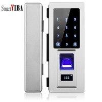 SmartYIBA Smart Lock Intelligent Electronic Door Lock Touch Screen Fingerprint/Password/RFID Card Keyless Latch For Glass Door