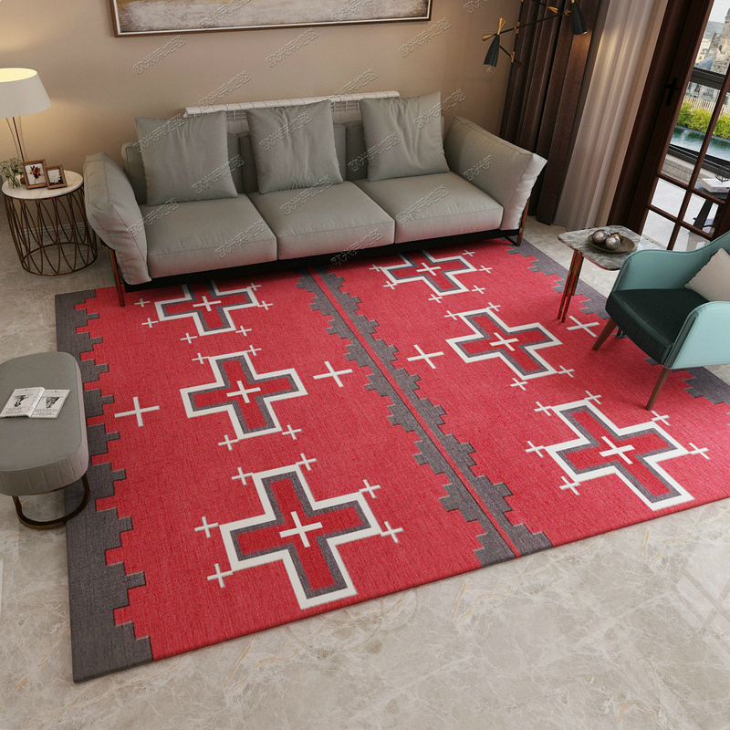 Moderne simplicité mode doux flanelle tapis plancher délicat grande surface tapis salon tapis chambre tapis enfant chambre décor à la maison
