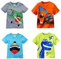 Retail 2016 nueva marca niños 100% algodón de verano las camisetas de la camiseta para niños niños chothes blusa ropa de la historieta del vestido ocasional