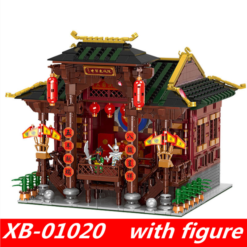 XingBao 01020 xingbao Chinese Building Series The Chinese Theater Set lepin city creator Building Blocks Toys for child never give up ma yun s story the aliexpress creator s online businessman famous words wisdom chinese inspirational book