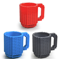 High Quality Creative Drinkware Building Blocks Mugs DIY Coffee Cup Block Puzzle Mug 350ml Personality Water