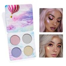 4 colors Highlighter eye shadow Powder Palette Shimmer Brightener Cosmetic Face Glow Waterproof Glitter Eyeshadow