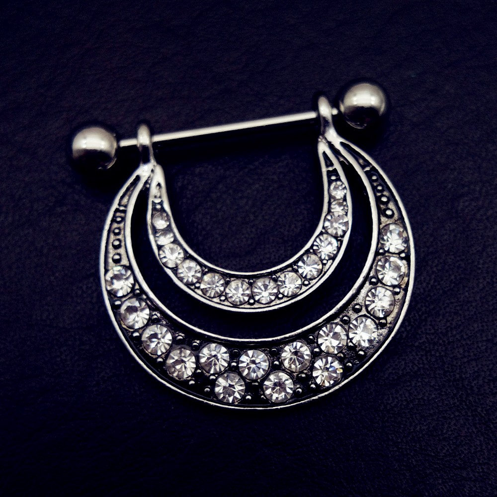 1 pair rhinestone nipple Piercing Shield Bars 316L Surgical stainless Steel  vintage nipple rings for Women Couple Body jewelry-in Body Jewelry from  Jewelry ... 6aef5092e6dd