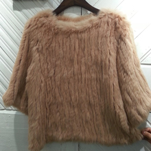 Rabbit fur coat, densely woven fur hedging sleeve coat fashion fur short paragraph