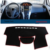 Taijs Factory Best Quality Car Dashboard Cover Left Hand Drive Sunshade Pad For Toyota Yaris For