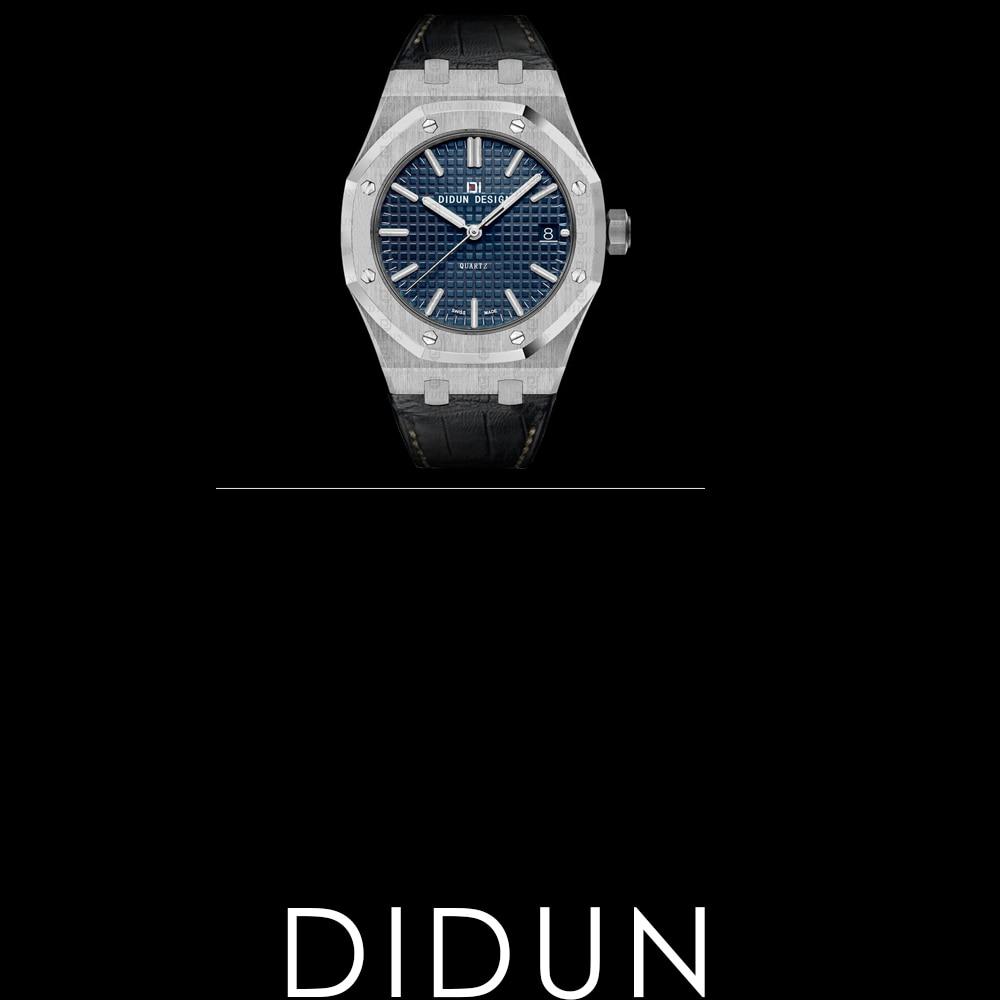 Watches men luxury brand DIDUN Fashion Casual Quartz watches Men Steel Military Watches clock men 30M