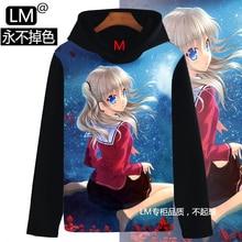 2016 New Arrival Charlotte Sweatshirts Nao Tomori Women & Men Hoodies 3D Pullover Sweatshirt Anime Comics Teenagers Student