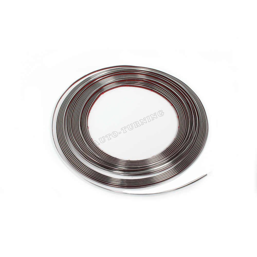 Modanatura cromata Decorazione Adesiva Bumper Grille Protezione Modanatura per bmw E46 E90 F30 golf MK6 7audi A3