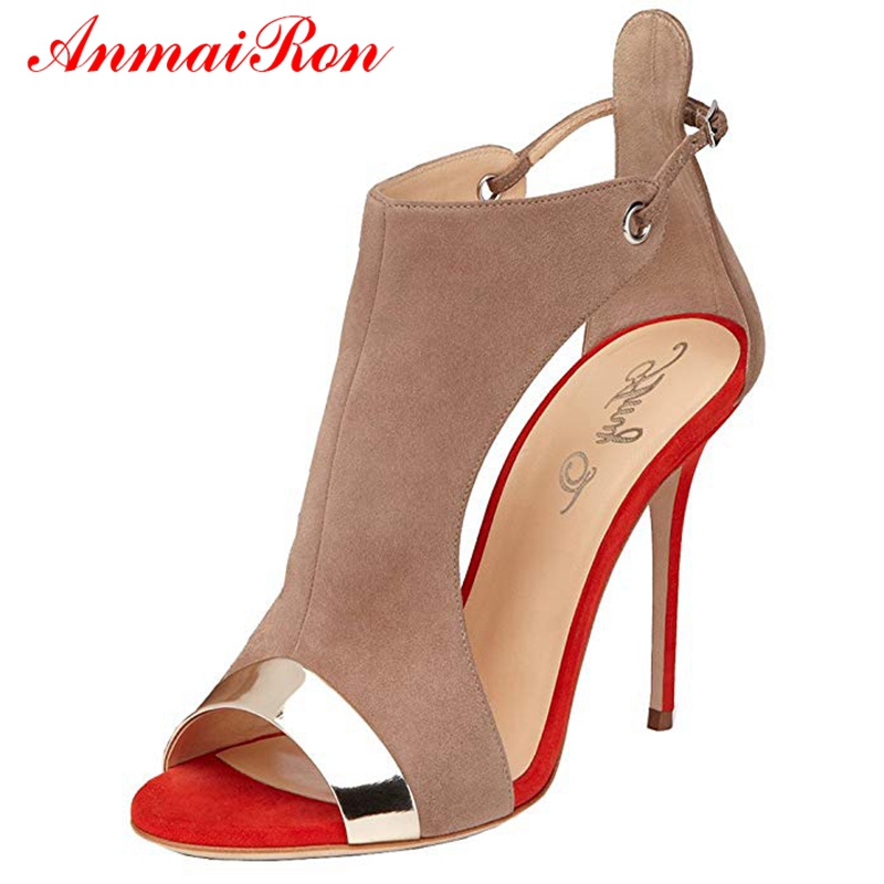 ANMAIRON Women 2019 New Arrival High Heel Sandals  Basic  Casual  Buckle Strap  Women Sandals Summer Big Size 35-45 LY1205ANMAIRON Women 2019 New Arrival High Heel Sandals  Basic  Casual  Buckle Strap  Women Sandals Summer Big Size 35-45 LY1205