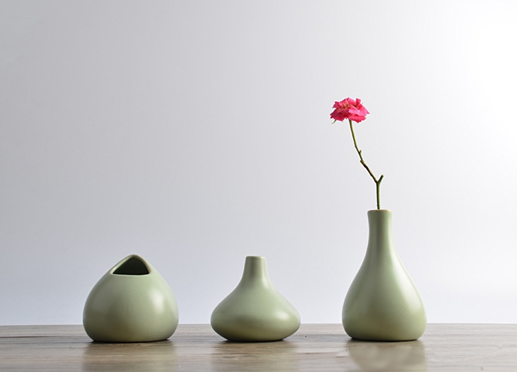 Japanese Ceramic Vase Flower Small Home Ornaments Handmade Ice