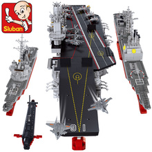 Model building kit compatible with lego Aircraft carriers Cruiser 3D blocks Educational model building toys hobbies for children