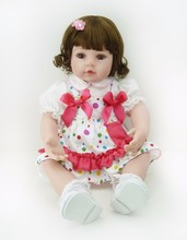 22 inch princess girl doll realistic reborn babies cloth body silicone vinyl dolls for children gift toys munecas reborn