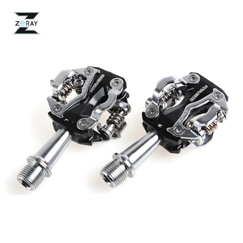 цены на ZERAY MTB Mountain Bike Self-locking Pedals Cycling Clipless Pedals Aluminum Alloy SPD CR-MO Pedals Bicycle Accessories 2 Colors в интернет-магазинах