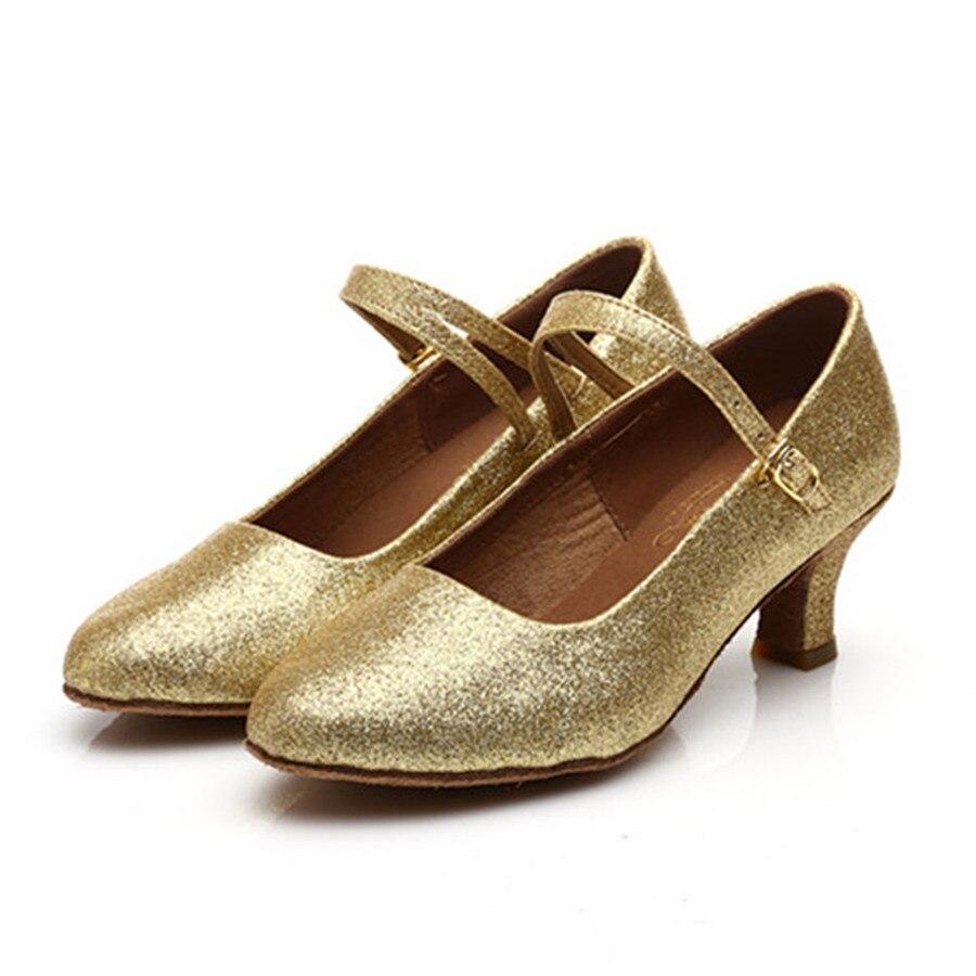 Free Shipping Golden PU Latin Dance Shoes Women Salsa Ballroom Shoes Zapatos De Baile Latino Mujer 226